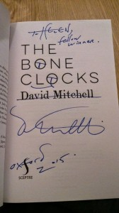 A week later I was lucky enough to catch up with fellow winner David Mitchell in Oxford!
